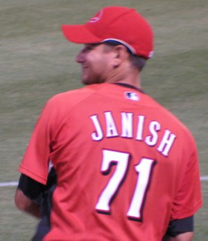 Janish pitched on May 7.