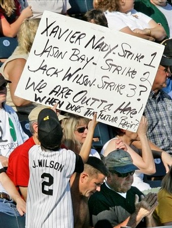 Pirate's fan(s) are not happy about the recent rash of big-star trades.